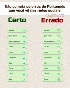 Build Your Brazilian Portuguese Vocabulary Portuguese Grammar, Portuguese Lessons, Portuguese Language, Learn Brazilian Portuguese, Study Organization, English Tips, Learn A New Language, Lettering Tutorial, Study Notes