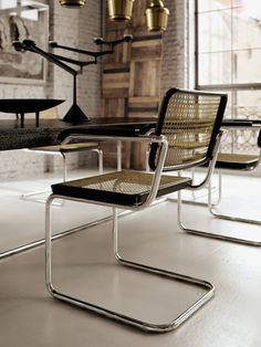 Chapter Cesca chair designed by Marcel Breuer. Chapter Cesca chair designed by Marcel Breuer. Marcel Breuer, Retro Furniture, Home Furniture, Furniture Design, Furniture Outlet, Furniture Market, Furniture Stores, Cesca Chair, Loft Interior Design