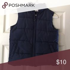 Boys Down Vest Boys polyester filled vest. Navy. Size Small (5-6) Crazy 8 is the brand Jackets & Coats Vests