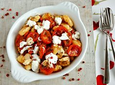 Caramelized Tomatoes on Gnocchi (I cheated and used store bought gnocci - but it was still a great and easy weeknight dish)!