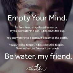 Empty your Mind. Be Water.