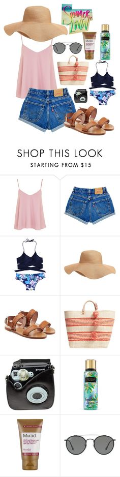 """""""summer lovin'"""" by alejomarianne on Polyvore featuring Topshop, Old Navy, RED Valentino, Mar y Sol, Polaroid, Murad and Ray-Ban"""