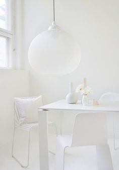 white on white lamp table decor walls interiors chairs window