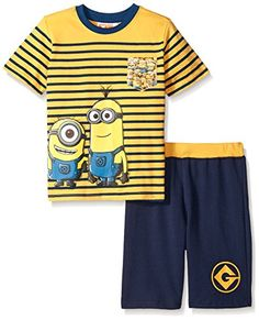 Universal Little Boys 2 Piece Minions Short Set With Sublimated Pocket Yellow 4 @ niftywarehouse.com #NiftyWarehouse #Minions #DespicableMe #Minion #Movie #Movies #Kids