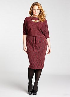 a1354b178fc30 Plus Size Cut Out Sweater Dress  UNIQUE WOMENS FASHION