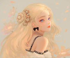 Anime Girl Drawings, Anime Art Girl, Cute Drawings, Manga Art, Pretty Anime Girl, Beautiful Anime Girl, Anime Princess, Digital Art Girl, Anime Angel