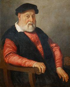 GIovan Battista Moroni, Ritratto di veccho in rosso, Bergamo, Accademia Carrara (deposito Istituti Ospedalieri), 1560-1565
