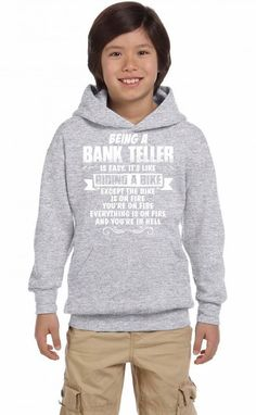 being a bank teller 1 Youth Hoodie