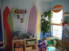 surfboard wall images for girls