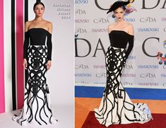 Coco Rocha In Christian Siriano - 2014 CFDA Fashion Awards - Red Carpet Fashion Awards