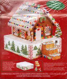 Wilton Gingerbread House Centerpiece Stand Display New Stairs Sign Tree NIP #Wilton #gingerbreadhouse #centerpiece