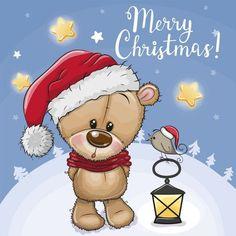 Christmas Clipart, Christmas Greetings, Christmas Cards, Merry Christmas, Valentines Art, Cute Cartoon Animals, Cute Teddy Bears, Tatty Teddy, Stained Glass Projects