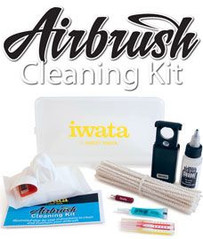 Iwata Airbrush Cleaning Kit Clean your airbrush like a pro - Unique tools and expert instructions to clean & maintain any style of airbrush, all in one convenient case.   The Iwata Airbrush Cleaning Kit includes:  * Cleaning Kit Instructions * 3 Extra Small Cleaning Brushes * 50 Pipe Cleaners (non-shredding cotton fibers)  * Artool Studio Wipes Pouch (x12 wipes)  * 1 oz bottle Medea Airbrush Cleaner * Medea Super Lube * Iwata Nozzle Wrench * Iwata LED Magnifier * Iwata Case wit  Price…