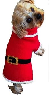 Christmas Pug Dog with red Santa Baby Onesie Outfits Long Sleeve Natural Organic Cotton Gift
