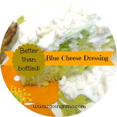 This recipe is so easy and produces such amazing results (way out of proportion to the effort), that you aren't even going to believe it. You'll never buy bottled blue cheese again, I promise. Great looking recipe for dairy tolerant people. Salad Dressing Recipes, Salad Recipes, Salad Dressings, Yummy Recipes, Salad Bar, Soup And Salad, Salad Bowls, Chutney, Caviar