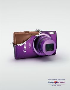 Currys PC World: Camera Treat yourself this Easter. Advertising Agency: AMV BBDO, London, UK Executive Creative Directors: Adrian Rossi, Alex Grieve Art Director: Dalatando Almeida Copywriter: Mike Hughes Photographer: David Gill Model maker: ben Miller Retouching: Mark Deamer Art producer: Katie Callaghan Agency producer: Duncan Collins Published: April 2015