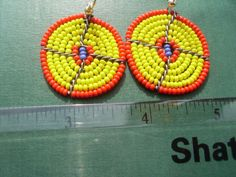 Hand Made African Masai Beads Earrings 14154 by nariv on Etsy
