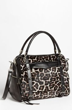Rebecca Minkoff 'Cupid' Leather & Calf Hair Satchel, Large available at #Nordstrom