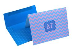 Delta Gamma Chevron Note Cards w/ Envelopes (10) from GreekGear.com
