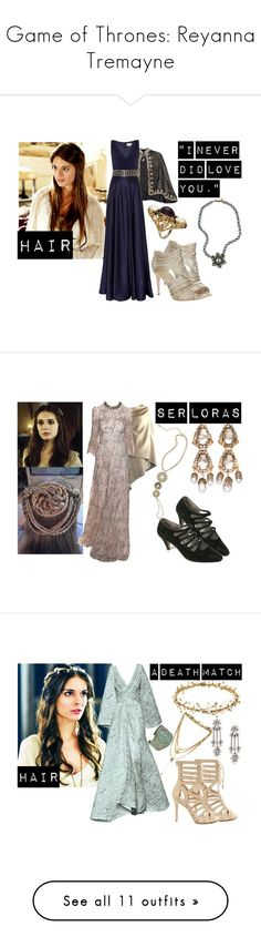 """""""Game of Thrones: Reyanna Tremayne"""" by demiwitch-of-mischief ❤ liked on Polyvore featuring AERIN, Temperley London, Miriam Haskell, Jenny Packham, Erickson Beamon, Vanessa Mooney, Tony Ward, DANNIJO, Forever 21 and Shubette"""