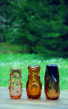 """Tarbeklaas. Eino Mäelt. Vaasid vasakult """"Aster I"""" - """"Aster III"""".  Foto: KSP 2017 Wine Glass, Glass Art, Aster, Mugs, Heart, Tableware, Beautiful, Dinnerware, Tumblers"""