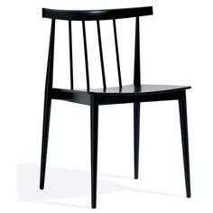 étourdissant chaise bois noir