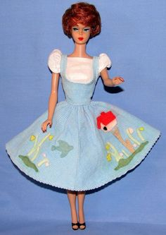 My Barbie's favorite outfit!  1960's Titian #1 Bubble Cut Barbie w / Wardrobe and Extras