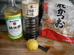 Homemade Ponzu  1 part shoyu 1 part fresh-squeezed citrus (if you can find yuzu or sudachi, go for it. otherwise I used lemon and orange cause that's what I...