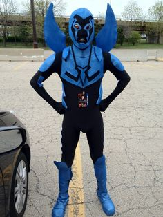 """How to make a DC """"Blue Beetle: Jaime Reyes"""" costume #superhero #cosplay #Young_Justice #comics #halloween"""
