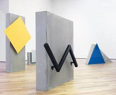 Oslo's Camilla Løw on Her Graphic, Geometric Sculptures - Sight Unseen Geometric Sculpture, Geometric Painting, Sculpture Art, Modern Art, Contemporary Art, Instalation Art, Environmental Art, Art Plastique, Geometric Designs
