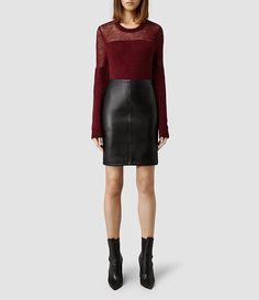 Womens Lucille Leather Skirt