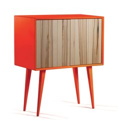 Cool Bright Cabinet In Mid-Century And Minimalist Style | DigsDigs