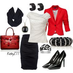 black and red #3, created by kathy277 on Polyvore