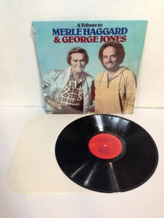 A Tribute To Merle Haggard & George Jones Vintage Vinyl 33 Record Album LP 1984 CBS Special Products P 17981 Heartland Music HL 1018 Stereo by NostalgiaRocks