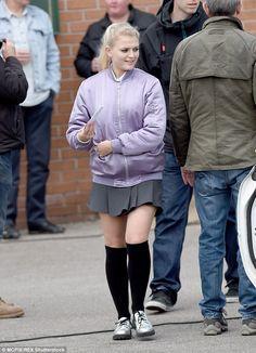 Lucy Fallon - (Bethany Platt on Coronation Street) Lucy Fallon, Coronation Street, Knee Socks, Celebs, Celebrities, Celebrity Crush, Pop Culture, Tights, Winter Jackets