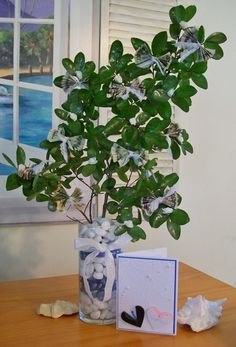 Money tree and card for a wedding