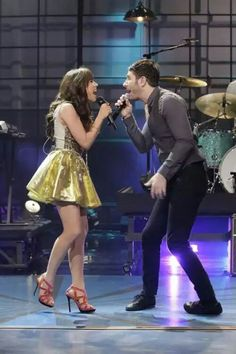 Carly Rae Jepsen and Owl City performing on stage #CRJ