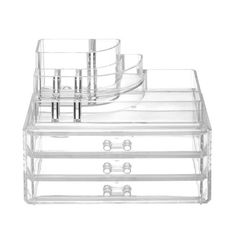 Acrylic Clear Cosmetic Makeup Organizer with 3 Drawers Perfect Gift!