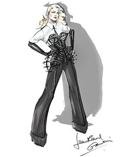 Madonna's MDNA Tour Costumes Designed By Jean Paul Gaultier