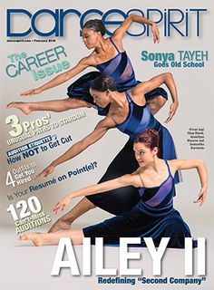 Shay Bland, Annellyse Munroe and Samantha Barriento of Ailey II on our February 2015 cover! (Photo by Erin Baiano)