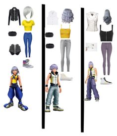 """""""Riku from Kingdom Hearts"""" by maddiehatter202 ❤ liked on Polyvore featuring LE3NO, Topshop, Converse, Frye, Rhythm in Blues, WearAll, 7 For All Mankind, dVb Victoria Beckham and Blanc Noir"""