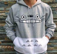 FANALA Men Women Cartoon Totoro Hoodie Unisex 3d Sweatshirt Harajuku Animal Thicken Fashion  Patchwork 3d Pullover Hoodies ToPS