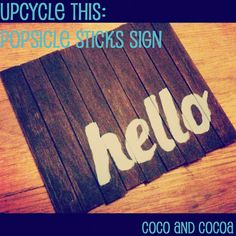 Coco and Cocoa: hello sign