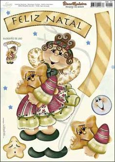 Litoarte Christmas Tree Clipart, Christmas Diy, Decoupage, Cold Porcelain, Bowser, Clip Art, Painting, Biscuit, Merry Little Christmas