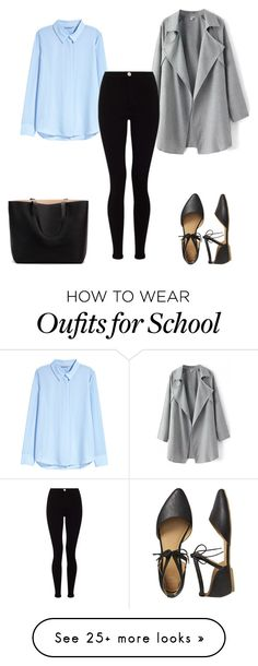 """Back to School"" by polskawersja on Polyvore featuring H&M, Lipsy and Gap"