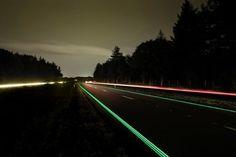 Highway Glow In The Dark Markings Unveiled in Netherlands #smarthighway