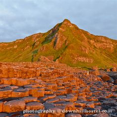 Sunset at the Giant's Causeway County Antrim Northern Ireland by downhillhostel.com http://www.downhillhostel.com/wp-content/uploads/2012/07/giants_causeway_hostel_sunset_photography_4-copy.jpg