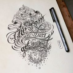 We featured the process shot of this a while back. This is the inked version. Awesome work by @onevu - #typegang - typegang.com | typegang.com #typegang #typography