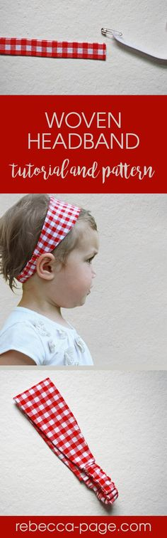 Got scraps? This kid's woven headband PDF pattern is the perfect way to use them up! Even better... it's fast and cute. Newborn to 12 years.