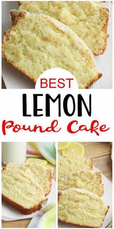 Lemon Pound Cake With Glaze Recipe, Pound Cake Recipes, Easy Cake Recipes, Moist Lemon Pound Cake, Pound Cakes, Sweet Recipes, Baking Recipes, Dessert Recipes, Quick Easy Desserts